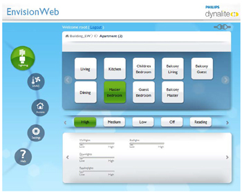 Philips Dynalite Launch New EnvisionWeb software - Smartscape